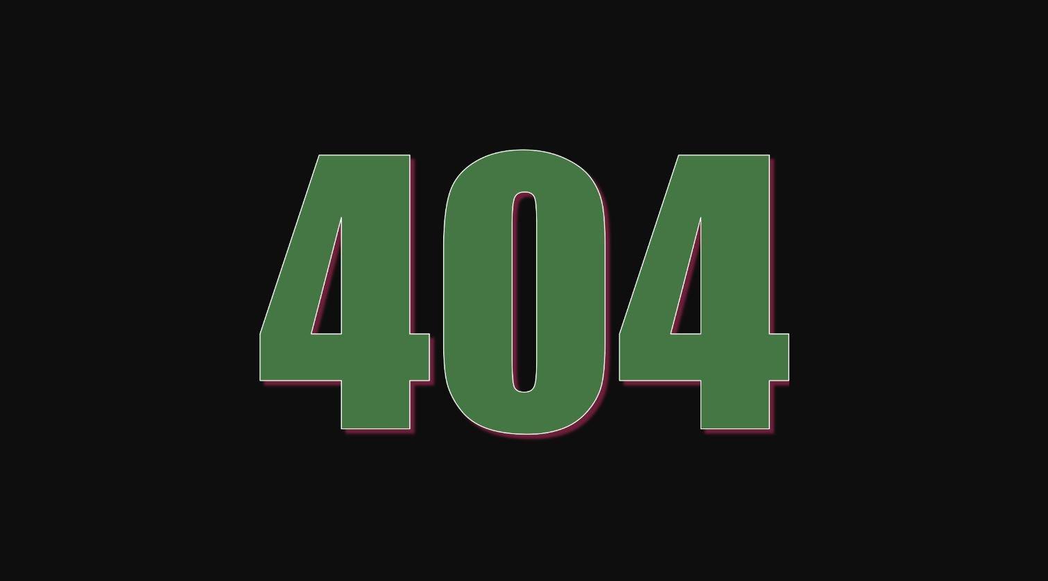 Angel Number 404