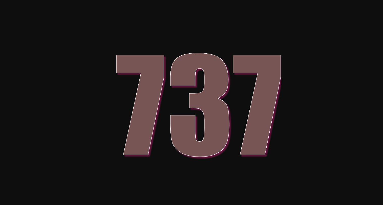 Angel Number 737